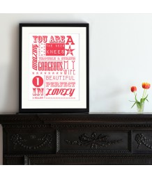 Romantic Print | Typographic Art